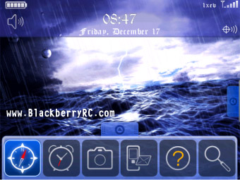 Sea Storm Animated Theme for blackberry 9000 phone
