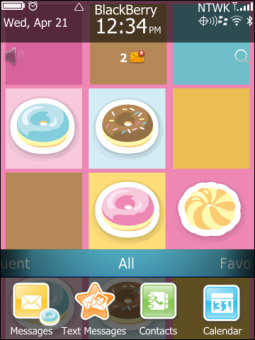 Donut Theme for torch 9850, 9860 themes