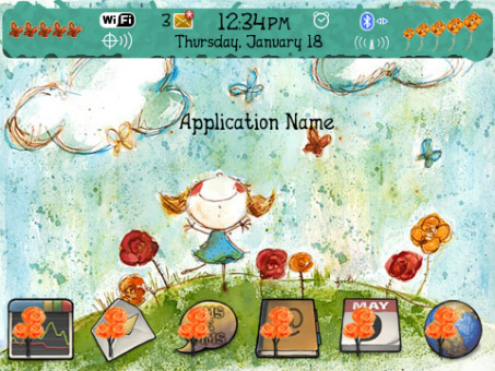 Little Girl for 9300, 9330 os6 themes