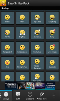 Easy Smiley Pack 3.3.0.3 for BlackBerry 10 Updated‏