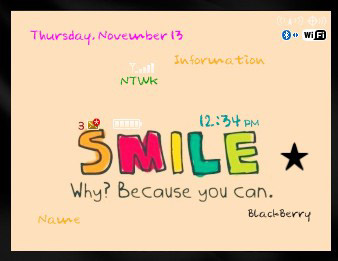 Cartoon Smile for bb 85xx,93xx themes