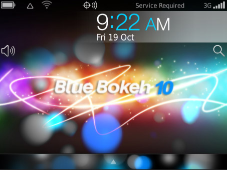 Tema blackberry - Blue Bokeh 10