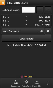 Bitcoin BTC Charts v1.0.0.3 for BlackBerry 10‏