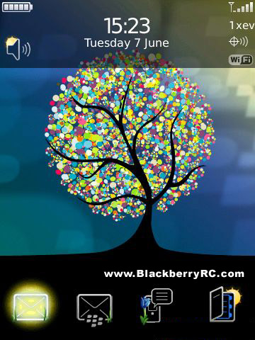 Roots of Spring for blackberry 95xx storm themes