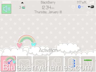 Gray & Rainbows for BB 97xx, 9650 themes