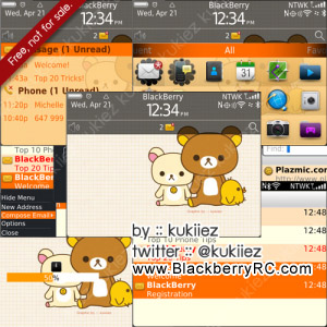 Cute Kukiiez for blackberry 9900,9930,p9981 themes