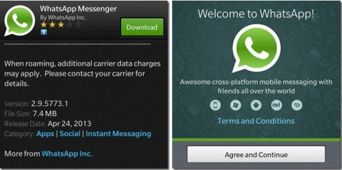WhatsApp for BlackBerry q10 9300