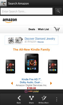 Search for Amazon for BlackBerry 10 updated‏
