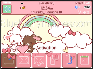 Cute Sugar Bunnies for blackberry 97xx, 9650 themes