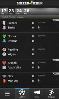 Soccer Ticker 1.0.1.51 for BlackBerry 10