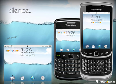 Silence Bold 9000 Themes for your BlackBerry