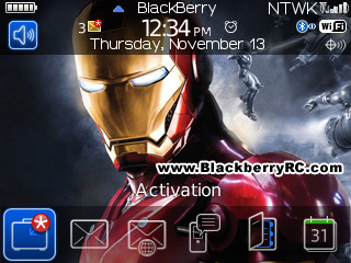 Iron Man 3 for BB 8520, 9300 curve themes