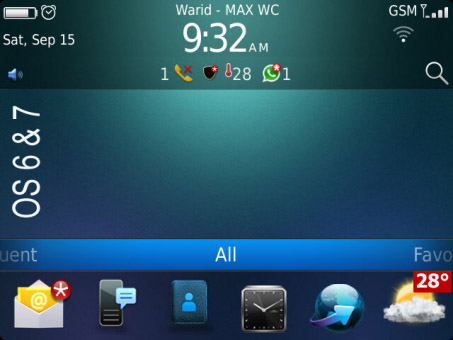 TEN for BlackBerry® 6 OS 97xx, 9650 themes download