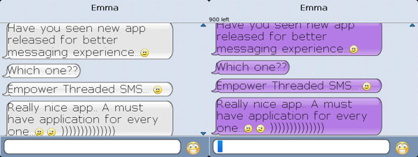 empower threaded sms for blackberry