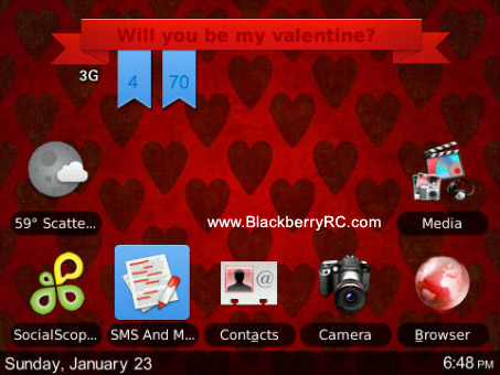 Amor theme for blackberry 85xx, 93xx os5