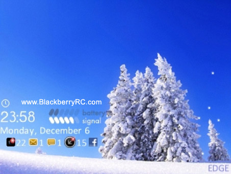 SnowFlake for blackberry 85xx, 93xx os5 themes