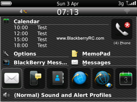 Gramity theme for blackberry 85xx, 93xx os5