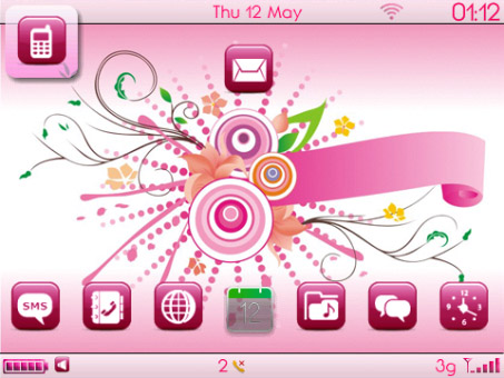free Cyllo Pink theme for curve 9300,9330 os6