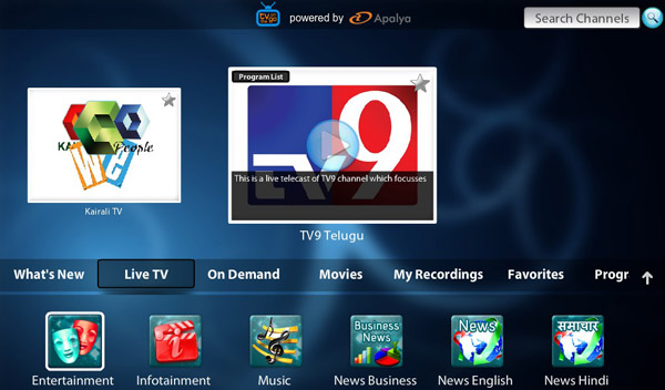 <b>TV on the Go V1.2.0 for blackberry 10 apps</b>