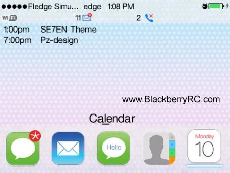 SE7EN_Blackberry Themes free download, Blackberry Apps