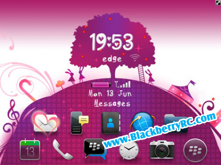 Lovely Purple World theme ( 9630 tour OS 5 )