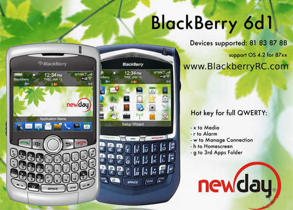 BlackBerry 6d1 theme for 81,83,87,88 models