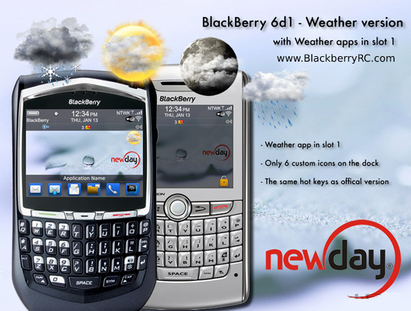 BlackBerry 6d1 Weather Version for 81,83,87,88 models