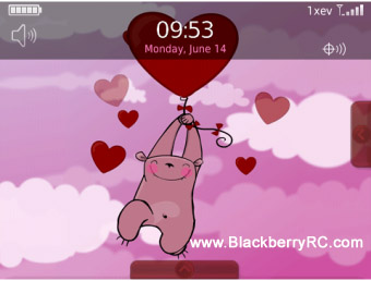 Pink Teddy Bear Animated Theme (85xx,93xx os5)