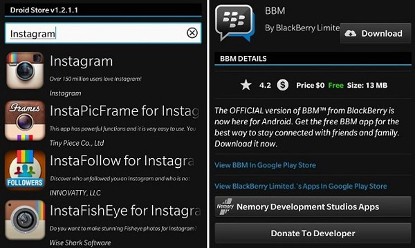 instagram download apk for blackberry