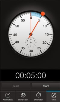 Porsche Design Clock for BB10 model
