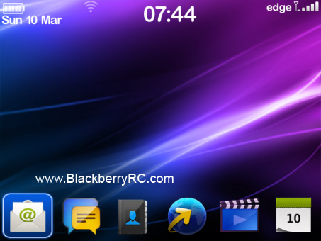 Classic Zen Style Theme with BlackBerry 10 Icon Set (97xx OS