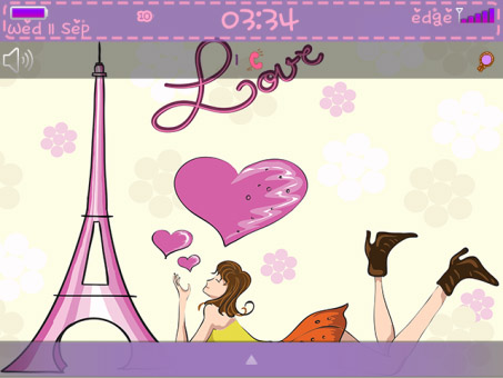 Love in Paris Theme with Purple color