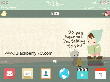 Flat Design for blackberry 9000,89xx os5 themes