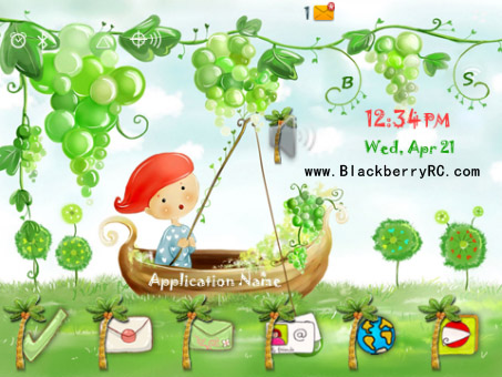 free Wonderland for blackberry bold 9900 themes