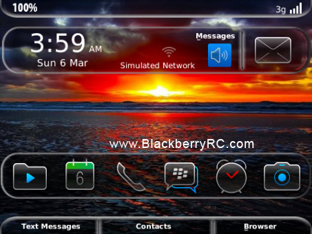 New Glass for OS 6.0 9700, 9650, 9780 theme