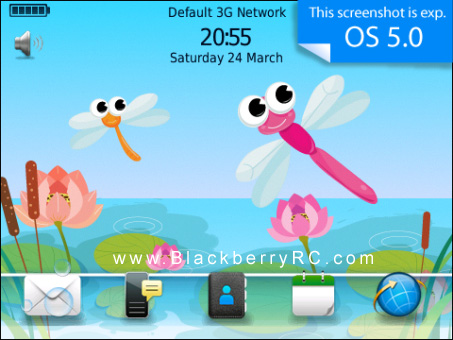 free Lovely Dragonfly OS7 99xx themes