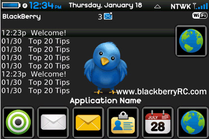<b>Tweme Twitter Theme For BlackBerry bold 9000</b>