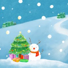 <b>Lovely warm Christmas illustration wallpaper</b>