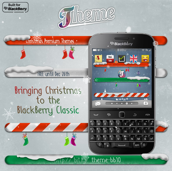 Theme with BlackBerry Classic Support and 2 Free xmas theme