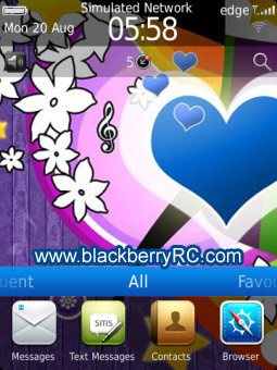 <b>Abstract Heart for blackberry 99xx themes</b>