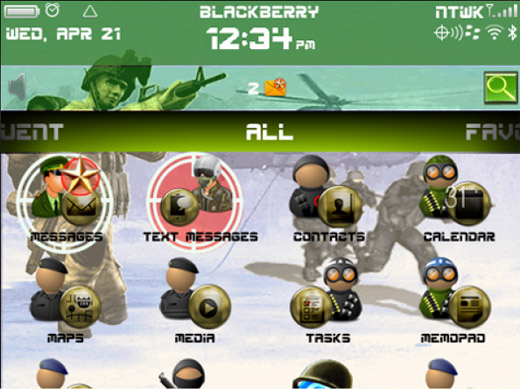 <b>SOLDIER theme for blackberry 99xx download</b>