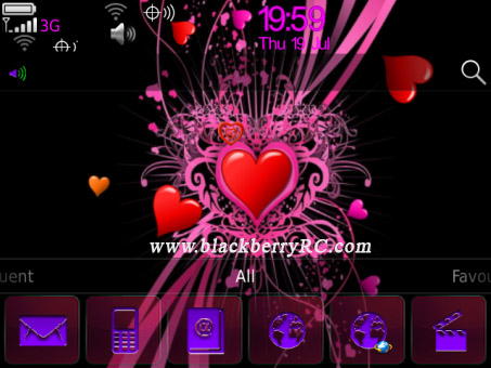 <b>Animated Pink Heart 99xx bold theme</b>