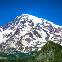 Rainier Mountain Snow Patches wallpaper