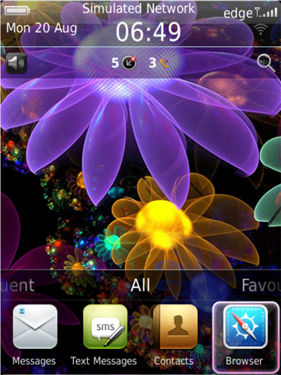 <b>Pandora Flowers for blackberry 99xx bold theme</b>