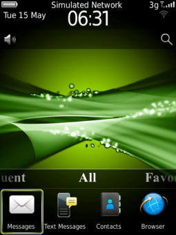 <b>Abstract Green for blackberry bold theme</b>
