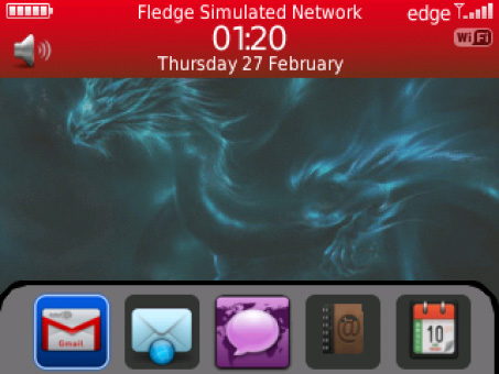 <b>Dragon Kongu theme for blackberry 99x os7.x</b>