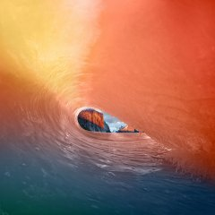 <b>Apple Osx Yosemite Wave Red Rainbow Sea</b>