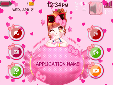 <b>Girl with Chocolate blackberry theme</b>