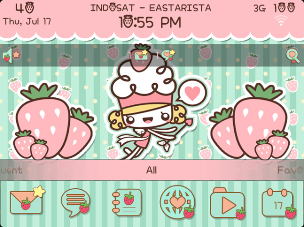 <b>Strawberry Cupid for blackberry theme</b>