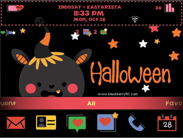 <b>Halloween Spirit for blackberry os7 themes</b>
